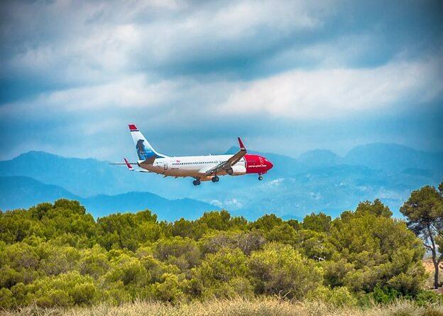 Flugzeug landet in Spanien