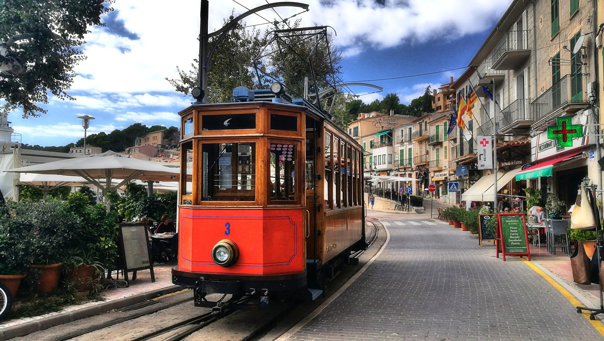 Mallorca Strassenbahn Port Soller